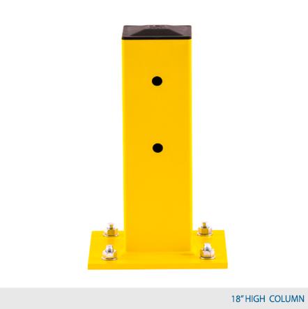 18 inch yellow column guard rail