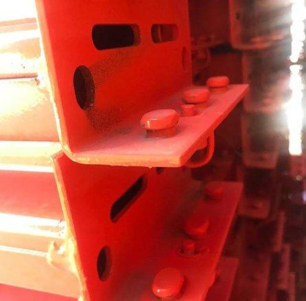 red beams