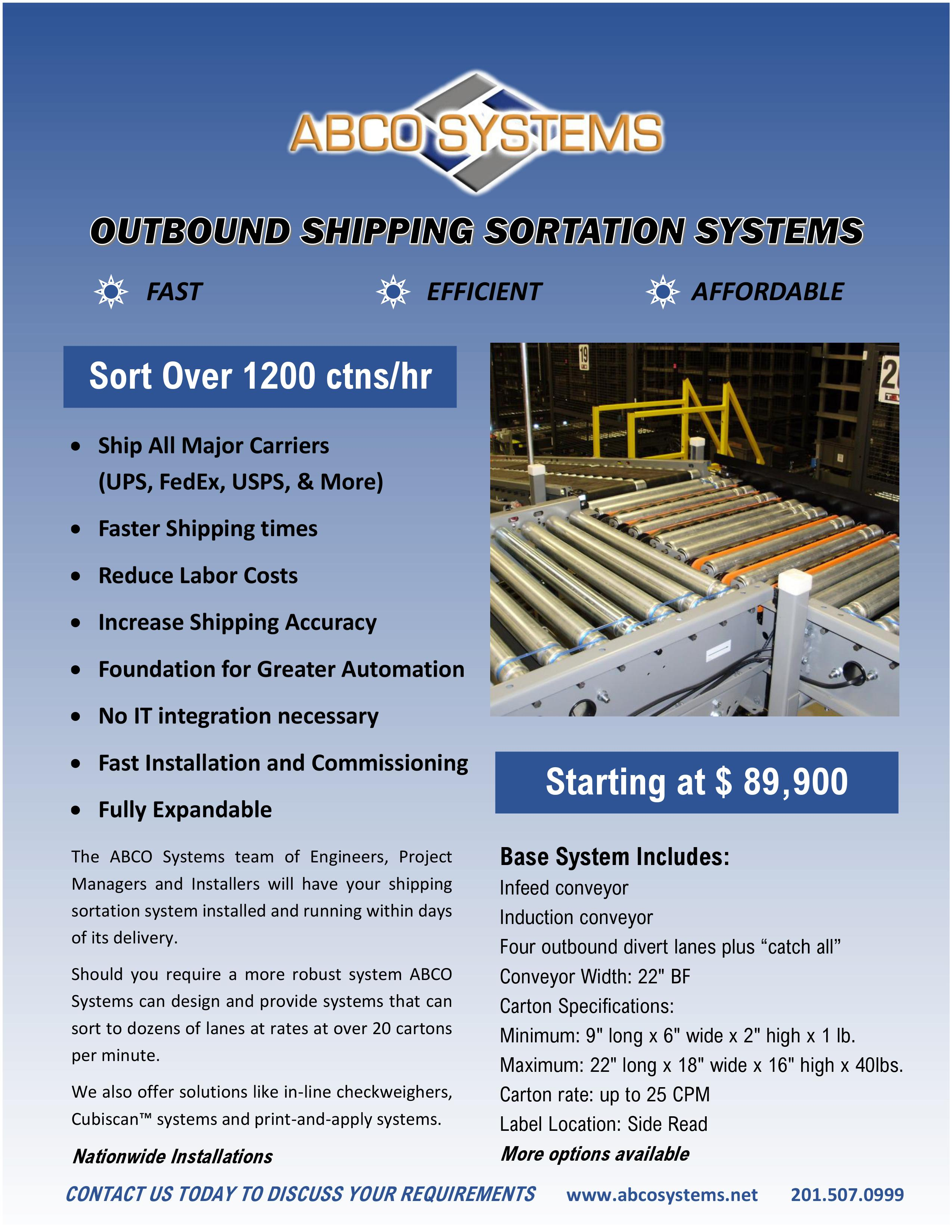 Outbound Shipping Sortation