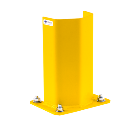 yellow guard rail rack post protector