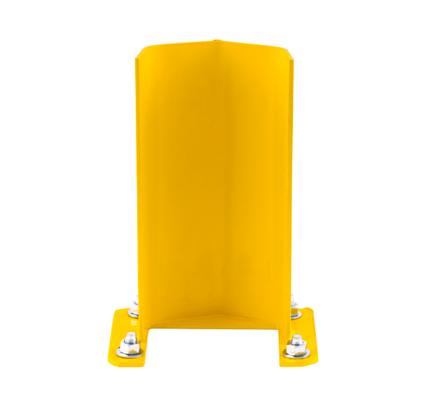 yellow guard rail rack post protector